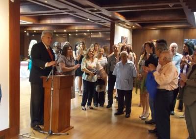 Presentación de la exposición por Pablo Martinez-Rojas (Director del Museo Luis Noboa)