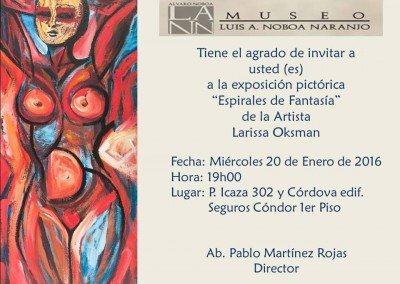 """Exposición Pictórica """"Espirales de Fantasía"""" de la artista Larissa Oksman"""