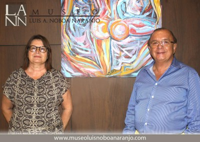 Larissa Oksman y Alvaro Noboa